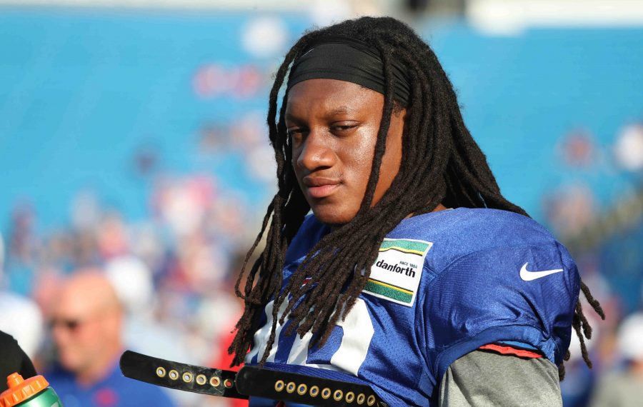 Bills linebacker Tremaine Edmunds took the unusual step of addressing the entire team the night before last week's game against Miami. (James P. McCoy/Buffalo News)