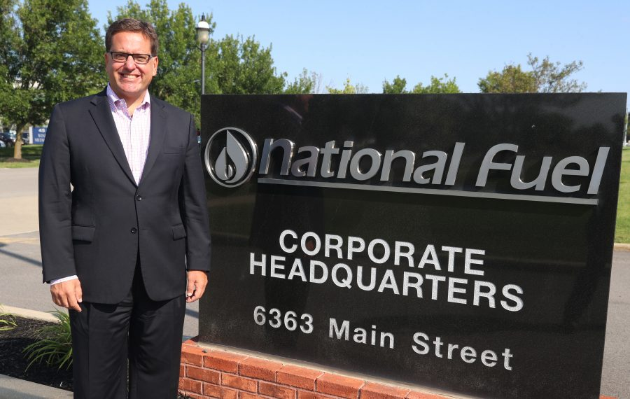 David Bauer at National Fuel headquarters in Williamsville. (John Hickey/Buffalo News)