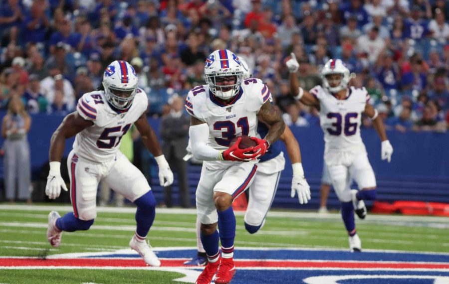 Bills safety Dean Marlowe will be inactive for Sunday's game against the Jets. (James P. McCoy/Buffalo News)