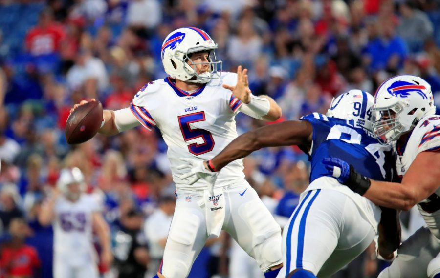 Bills quarterback Matt Barkley had a strong night against the Colts in the preseason opener Thursday. (Harry Scull Jr./Buffalo News)
