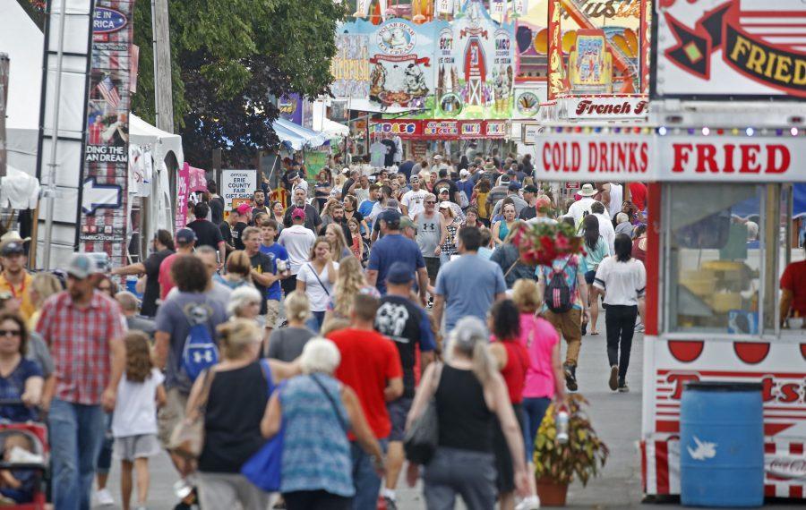 The Erie County Fair on Aug. 16. (Robert Kirkham/Buffalo News)