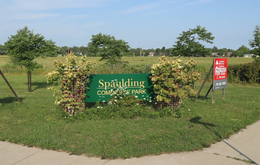 Tonawanda Mayor Rick Davis has included revenue from the expected sale of 15 acres of the former Spaulding Fibre site in his 2020 budget plan. (John Hickey/Buffalo News)