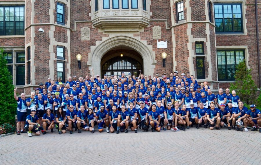 Empire State Ride bicyclists included riders from 20 states. (Photo provided by Roswell Park Comprehensive Cancer Center)