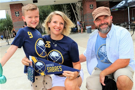 Buffalo Sabres fans geared up for the season with a day chock full of activities - featuring Sabres players past and present, live music, kid-friendly activities and even a Sabres 5.0K Race on Saturday, Aug. 17, 2019.
