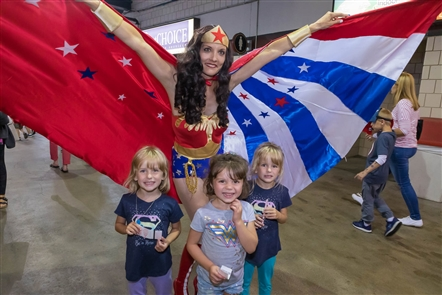We're in a Golden Age for superheroes, and the Buffalo Bisons took advantage with a Superhero Night on Saturday, Aug. 17, 2019. See the families and friends who dressed up in costume.