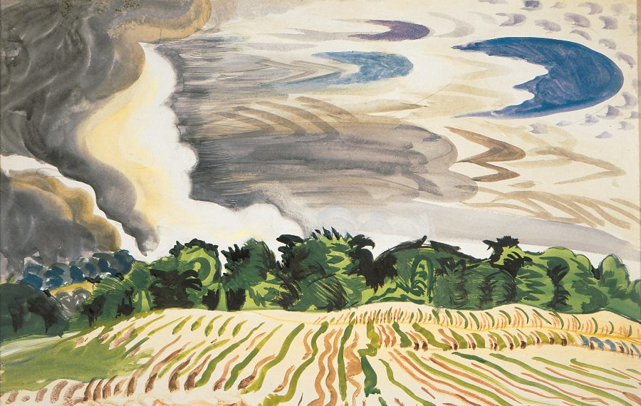 """""""Clearing Sky,"""" a  watercolor, gouache and pencil on paper by Charles Burchfield is part of the new exhibit """"Charles E. Burchfield: Transitions"""" at the Burchfield Penney."""