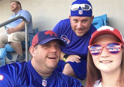 Are you (or your pet) decked out in red, white and blue Zumbaz, your favorite Bills jersey or other Bills gear? Share your Bills fan selfies and game day photos with us and you could be featured on BuffaloNews.com. Please include when and where the photo was taken, who's in the photo and your first and last name (for photo credit) for caption information. Submit your photos at: https://bnblitz.tumblr.com/submit