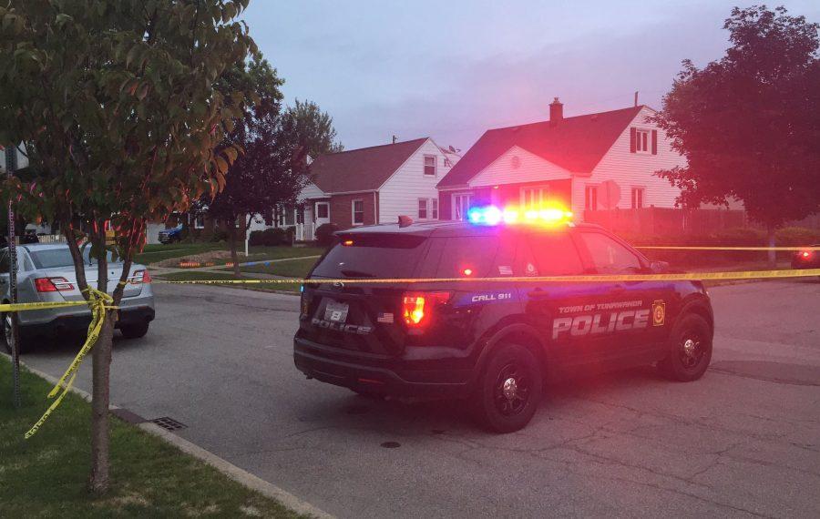 The scene on Ebling Avenue in Tonawanda early Tuesday morning as police investigated a triple shooting. (Keith McShea/Buffalo News)
