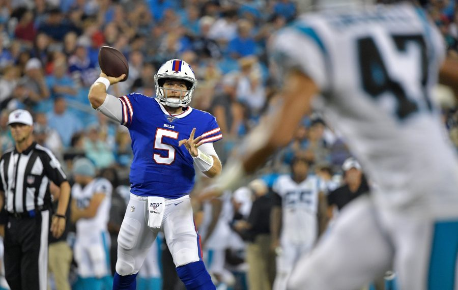 Bills quarterback Matt Barkley was sharp Friday night against the Carolina Panthers. (Getty Images)