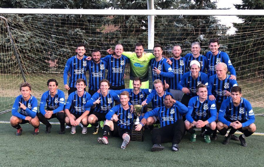 Queenston FC are the 2019 Tehel Cup champions. (Ben Tsujimoto/Buffalo News)