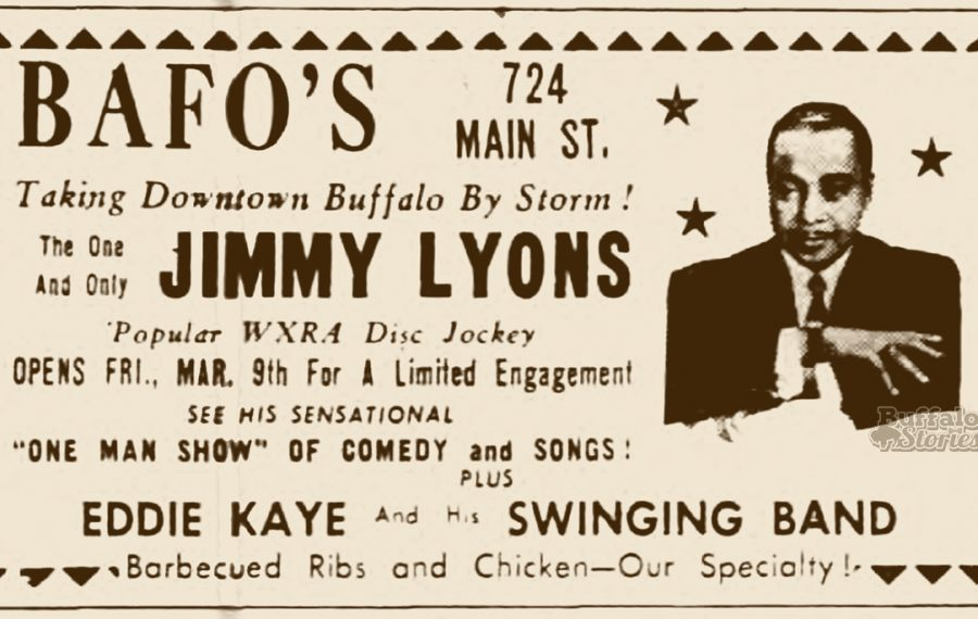 Jimmy Lyons was Buffalo's first African American disc jockey after a long career as a nightclub singer and host.