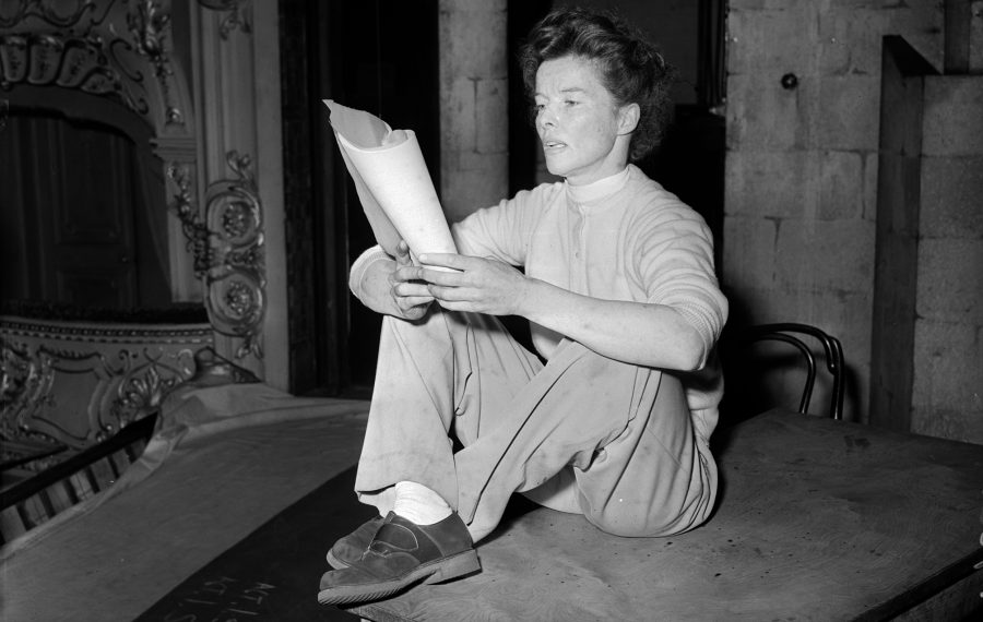 Defying the norms of the time, Katharine Hepburn was known for wearing pants. (Nixon/Getty Images)