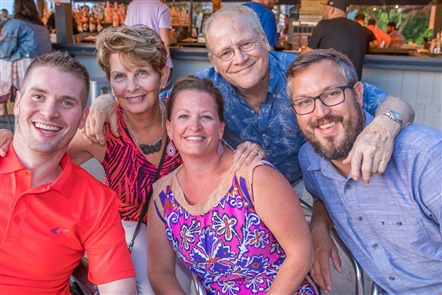 The Change MS Wellness Foundation, active in fighting against the crippling disease of multiple sclerosis, held a fundraiser - the Orange Affair - for its endeavors on Sunday, Aug. 18, 2019 at DOS on the Lake. Gorgeous waterfront views, an open bar, fire pits and a DJ were a few of the perks.