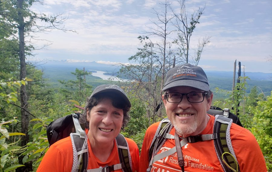 Mary Schlabach, left, and her brother John Klatt will leave for Iceland next week on a three-day fundraising hike to support the Multiple Myeloma Research Foundation. It was taken during a practice hike earlier this year in Asheville, North Carolina. (Photo courtesy of the Multiple Myeloma Research Foundation)