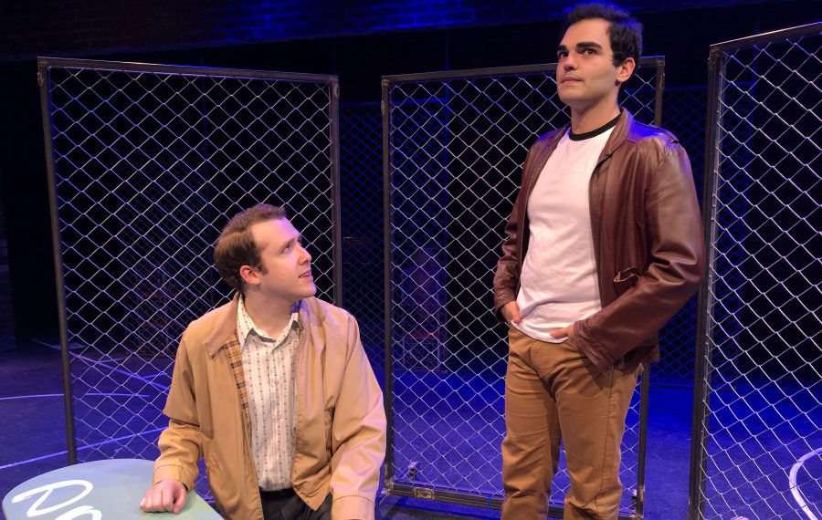 "Ricky Needham, left, and and Matthew DiVita star in MusicalFare Theatre's production of ""West Side Story."" (Photo courtesy of Chris Cavanagh)"
