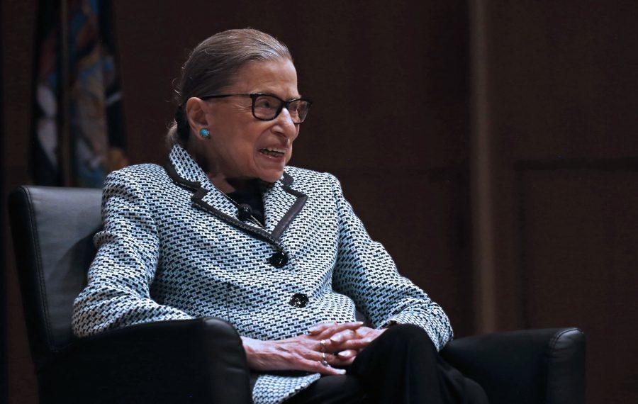 U.S. Supreme Court Justice Ruth Bader Ginsburg speaks in Kleinhans Music Hall on Monday, Aug. 26, 2019. (Robert Kirkham/Buffalo News)