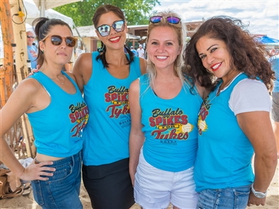 Ryan Stang's annual fundraiser - dubbed Spikes for Tykes - for the Kelly For Kids Foundation took over Woodlawn Beach on Sunday, Aug. 25, 2019. Jim Kelly himself was on hand as more than 60 coed volleyball teams took part in the tournament.