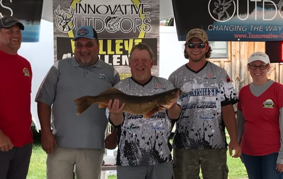 Team Clearwater caught this 10.17-pound walleye in the Innovative Outdoors Walleye Challenge, the largest fish caught in the tournament. (Photo courtesy of Innovative Outdoors)