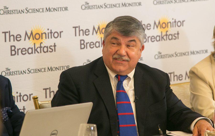 ALF-CIO President Richard Trumka. (Matt Orlando/The Christian Science Monitor)