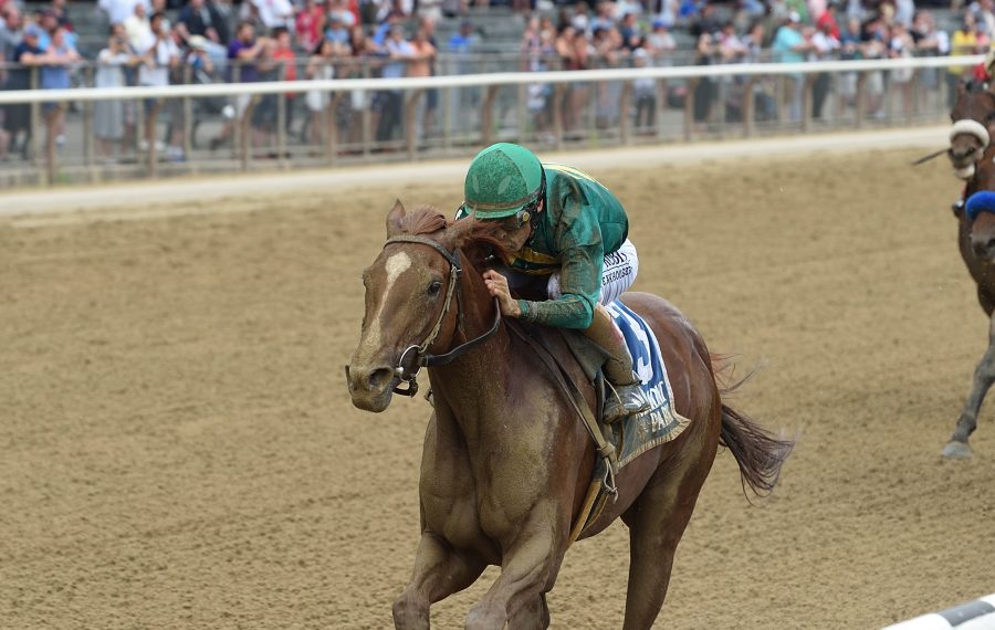 Code of Honor, winning the G3 Dwyer in July at Belmont, runs in Saturday's Travers Stakes. (Contributed photo)