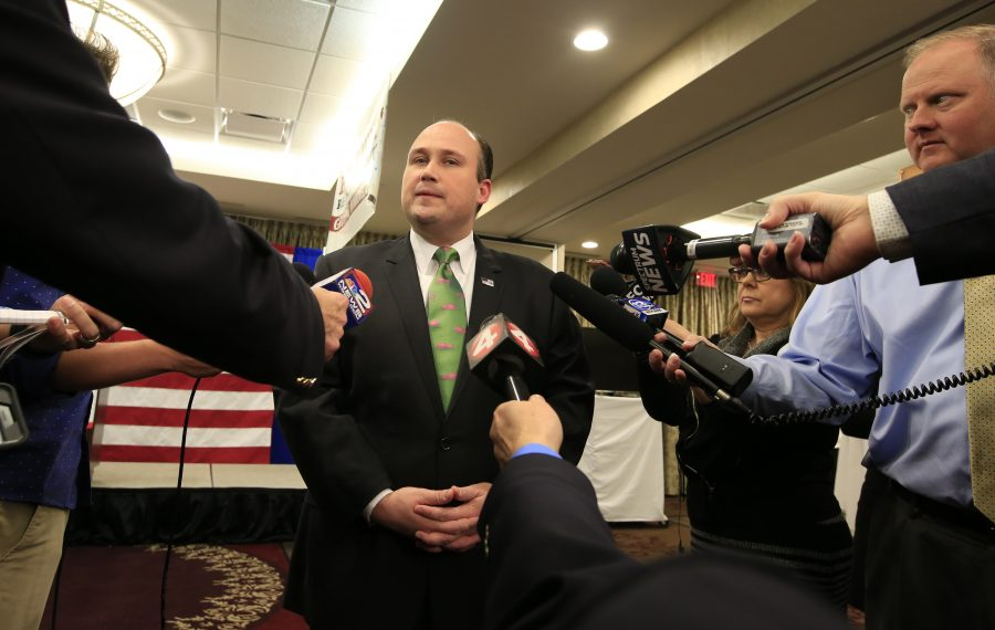 "New state GOP Chairman Nicholas A. Langworthy of Erie County will use ""aggressive messaging"" to try to break the Democrats' grip on power in Albany. (Harry Scull Jr./News file photo)"
