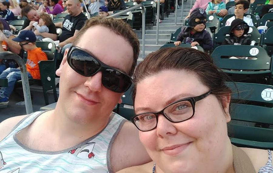 Lindsey Higgins and her fiance, Patrik Mattsson, at Mattsson's first Buffalo Bisons game this past summer. (Photo courtesy of Lindsey Higgins)