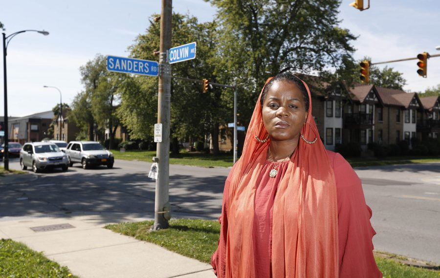"Jeanneie Muhammad wants to make sure the man who pulled out a gun following a minor traffic mishap near this North Buffalo intersection gets prison time so that a message is sent to others ""with his mindset."" (Sharon Cantillon/Buffalo News)"