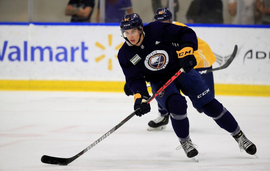 No. 1 pick Dylan Cozens makes his NHL preseason debut tonight (Harry Scull Jr./Buffalo News)