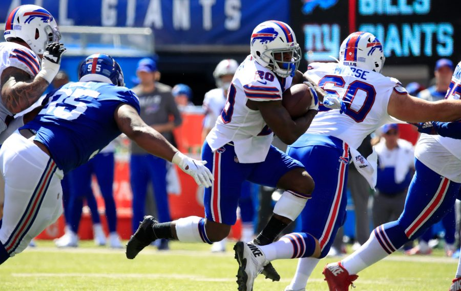 Bills running back Frank Gore has gone up against several stacked boxes through the first three games of 2019. (Harry Scull Jr./Buffalo News)