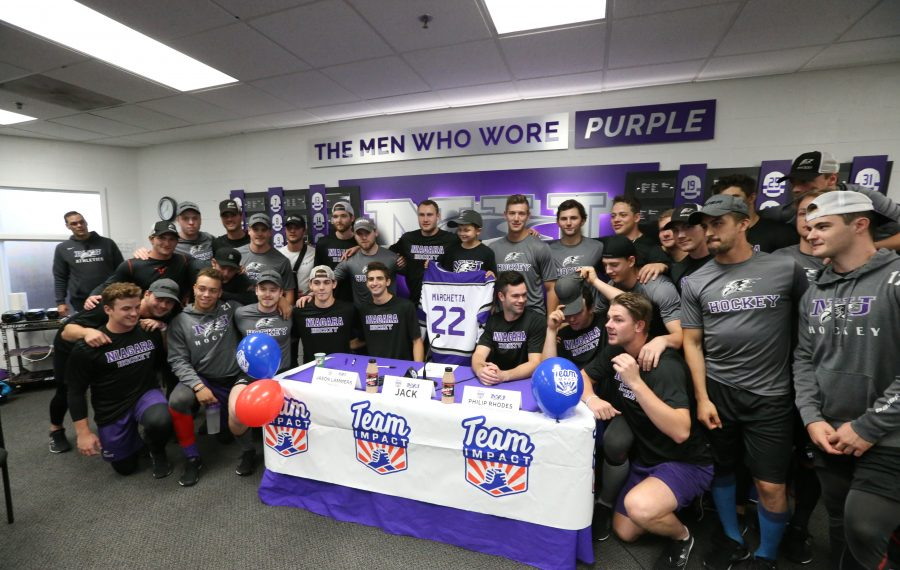 He's the 'cool kid' as Niagara hockey teams up with Williamsville 7-year-old
