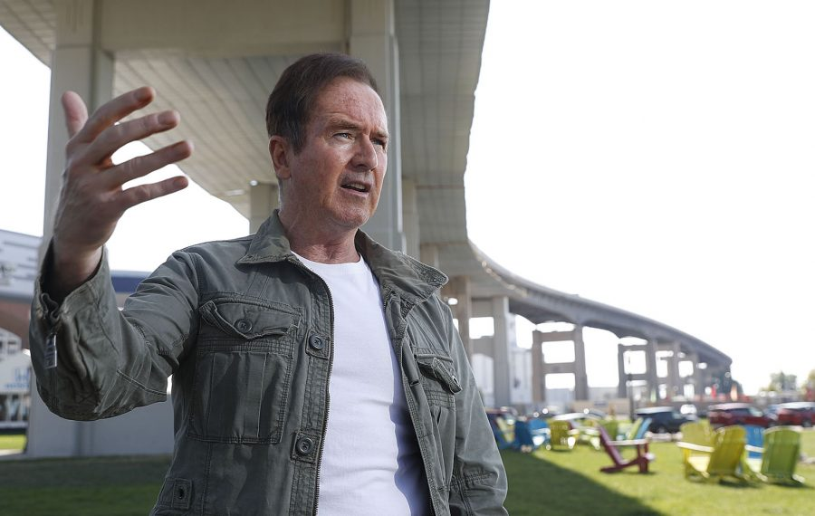 Rep. Brian Higgins is working on an alternative plan to the Skyway that relies on using modern signal synchronization technology on underutilized East Side and South Buffalo streets to move commuter traffic.  (Sharon Cantillon/Buffalo News)