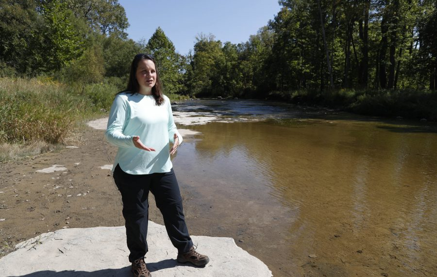 Jill Jedlicka, executive director of Buffalo Niagara Waterkeeper, is concerned that the repeal of clean water regulations will hurt smaller waterways such as Cayuga Creek. (Sharon Cantillon/Buffalo News)