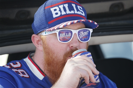 Buffalo Bills fans enjoyed temperatures in the 80s as they tailgated before the home opener against the Cincinnati Bengals on Sunday, Sept. 22, 2019.