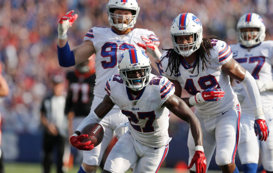 Bills cornerback Tre'Davious White had a pair of interceptions against the Bengals in Week 3. (Mark Mulville/News file photo)