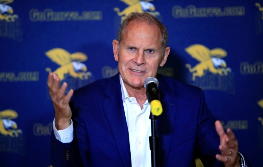 Fomer Canisius coach John Beilein meets the media Tuesday night prior to his induction into the school's Sports Hall of Fame (Harry Scull Jr./Buffalo News).