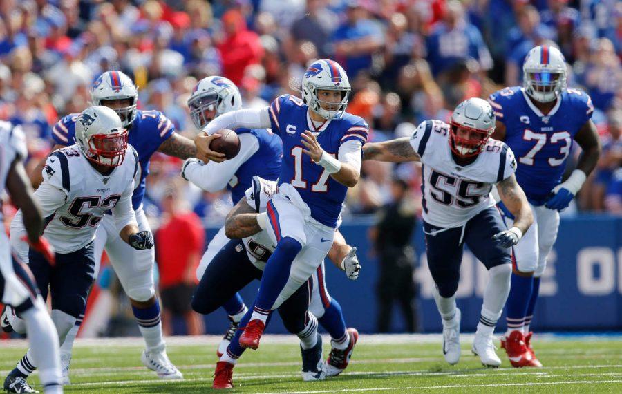 Bills quarterback Josh Allen is in the NFL's concussion protocol. (Derek Gee/Buffalo News)