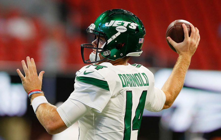 Bills quarterback Josh Allen and Jets quarterback Sam Darnold rented a house together this offseason in their native California. (Kevin C. Cox/Getty Images file photo)