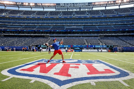 Images from MetLife Stadium in East Rutherford, N.J., as the Bills prepare to take on the New York Giants on Sunday, Sept. 15, 2019.