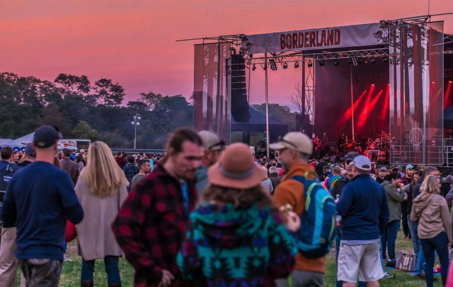 The mesmerizing red sky at the 2018 Borderland Music and Arts Festival, which returns this weekend to Knox Farm State Park. (Don Nieman/Special to The News)