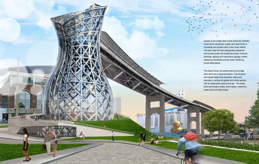 """A selection jury picked the """"City of Light"""" entry as the winner of the Skyway corridor competition."""