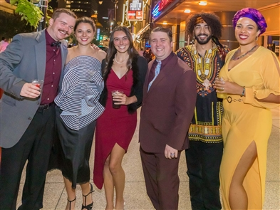 The kickoff of the 2019-20 Buffalo theater season was celebrated in several ways on Friday, Sept. 20, 2019, with a gala dinner at 500 Pearl, a smorgasbord of theater productions and then a free street party in the Theater District. See who danced into the night on Ellicott Street at the post-theater party.