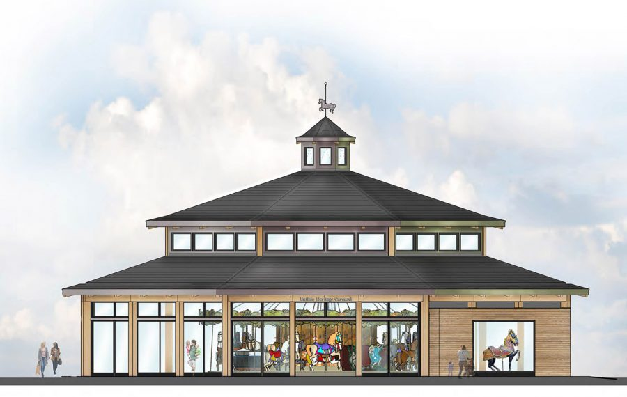 A rendering of the proposed carousel at Canalside. (Provided photo)