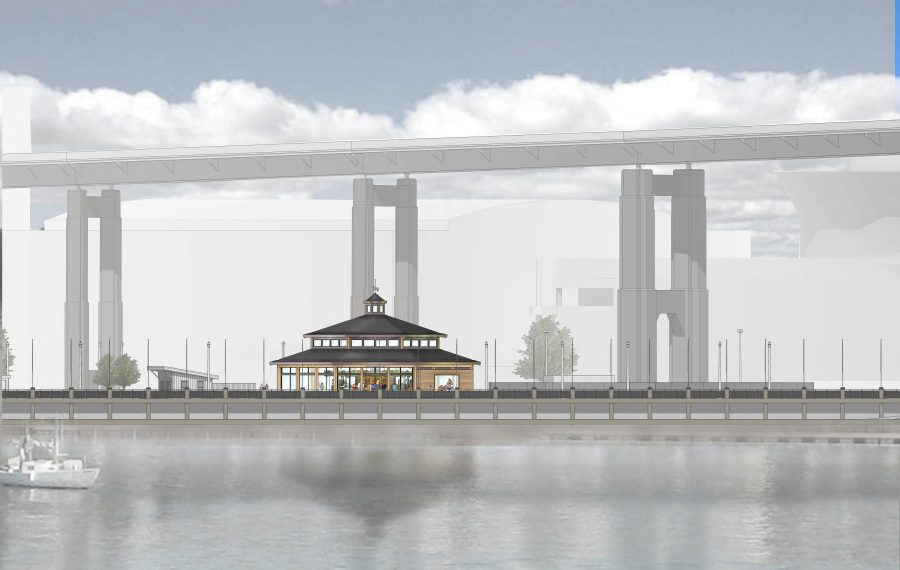 A rendering of the $4 million carousel roundhouse that will be at home at Canalside.