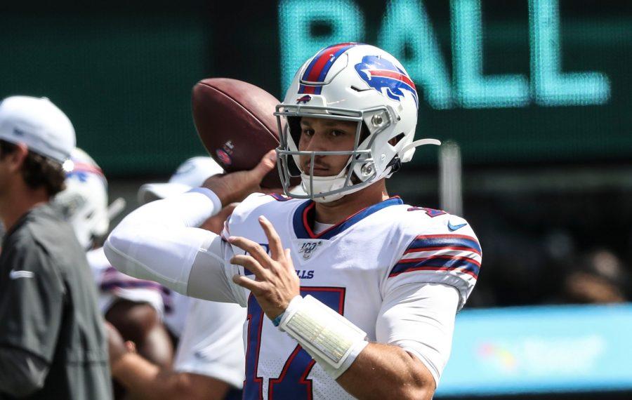 Buffalo Bills quarterback Josh Allen. (James P. McCoy/Buffalo News)