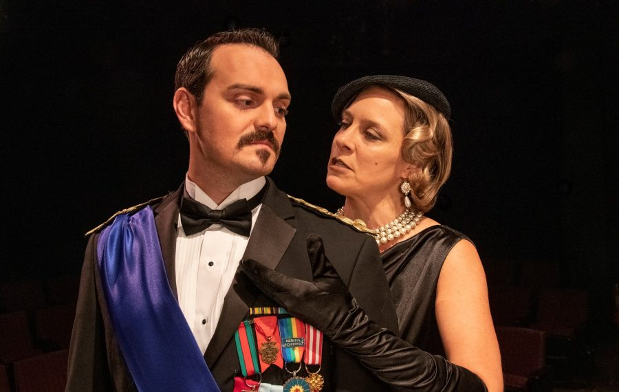 "Irish Classical Theatre presents "" 'Tis Pity She's a Whore."" Adriano Gatto as Lord Soranzo and Aleks Malejs as Hippolita. (Photo by Gene Witkowski)"