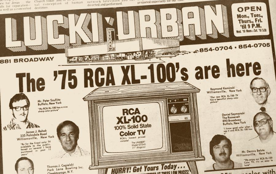 Buffalo's Polish Community loves Lucki-Urban's RCA TVs, 1975
