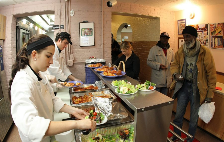 Friends of the Night People has been serving hot meals to the homeless and needy for 50 years. They can be supported through Party for the People. (James P. McCoy/News file photo)