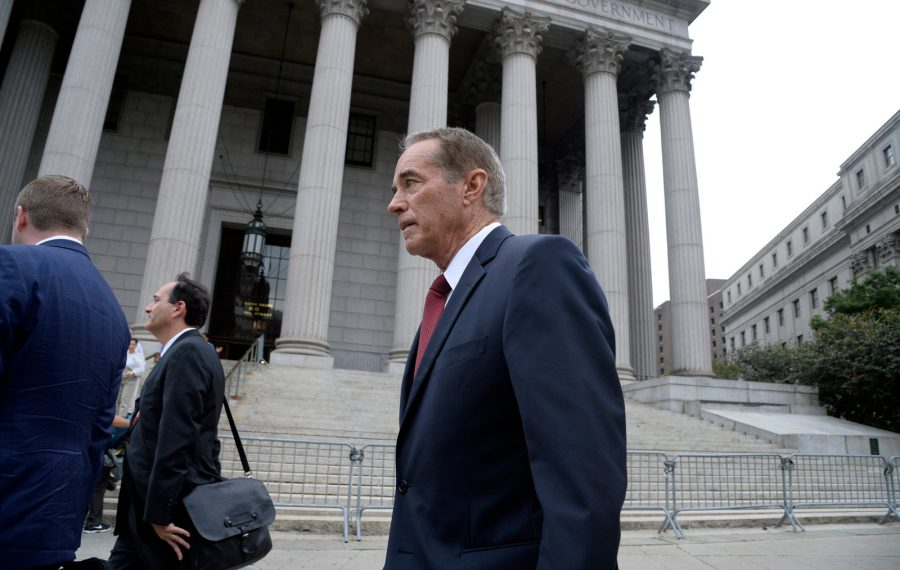 Buffalo Congressman Christopher Collins leaves Federal District Court in Manhattan, New York City, after a hearing on his case on Thursday, September 12, 2019. (Photo by Jefferson Siegel)