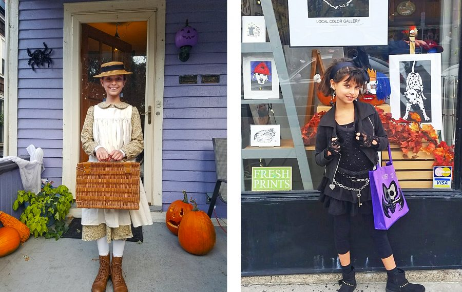 """Lauren Makeyenko and her 11-year-old daughter come up with a costume idea, like """"Anne of Green Gables"""" and '80s-circa Madonna, then scour local secondhand shots to bring it to life. (Lauren Makeyenko)"""