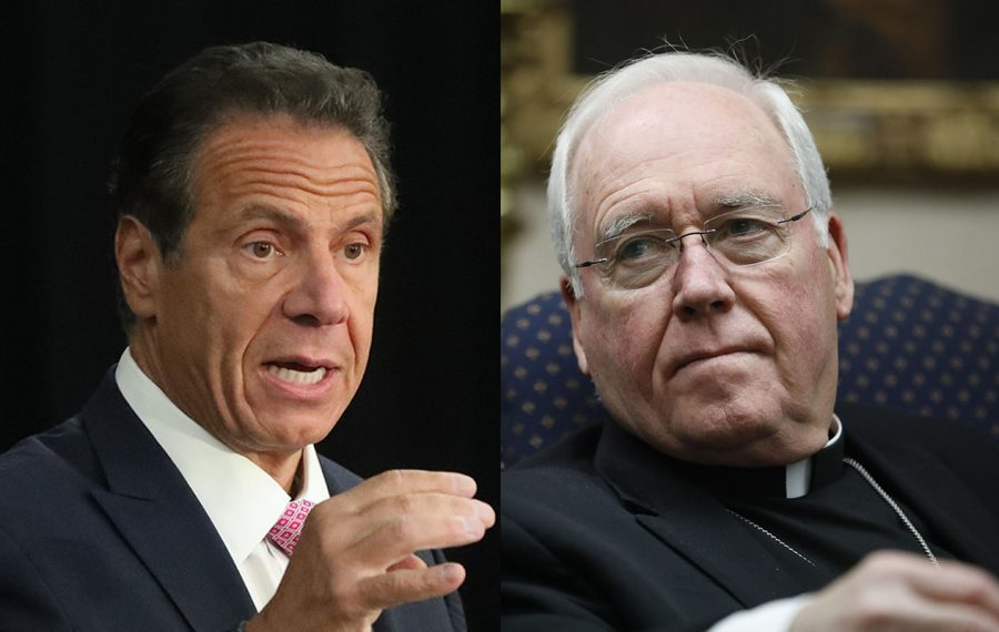 Gov. Andrew Cuomo, left, and Bishop Richard Malone. (News fille photos)